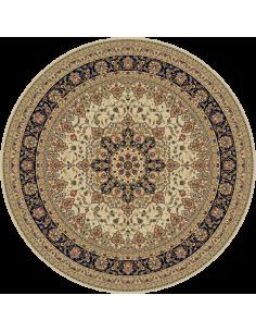 Covor lana bej Isfahan 207 61126, rotund