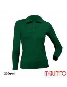 "Tricou ""Polo Jersey"" merino de dama 200g"