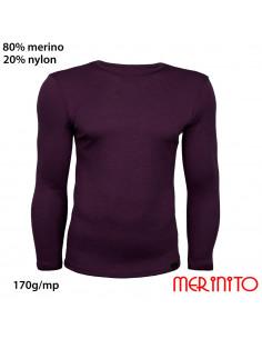 Bluza barbatesca 170g 80%merino 20%nylon