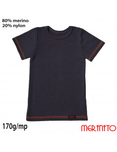 Tricou copii Vintage Denim 80%merino 20%nylon